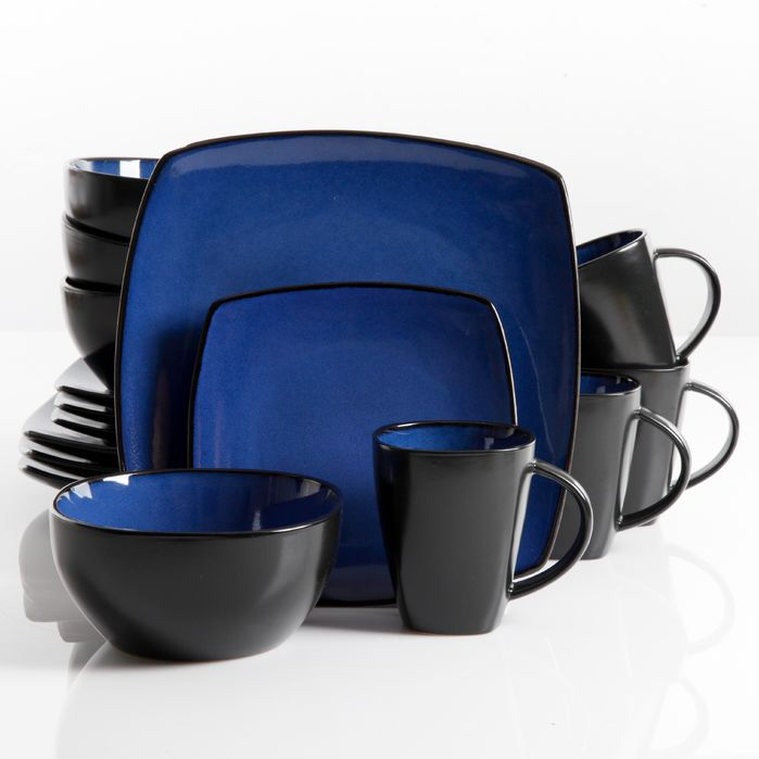 Features:  -Set includes 4 dinner plates, 4 dessert plates, 4  bowls and 4 mugs.  -Dishwasher and microwave safe.  -Textured finish.  Style: -Modern.  Material: -Stoneware.  Number of Items Included: