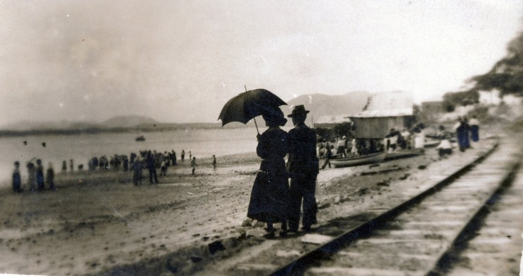 9th April 1912 Jack and Edith COLMAN at the arrival of the Queensland Premier, Mr. D. F. Denham, at Cooktown.