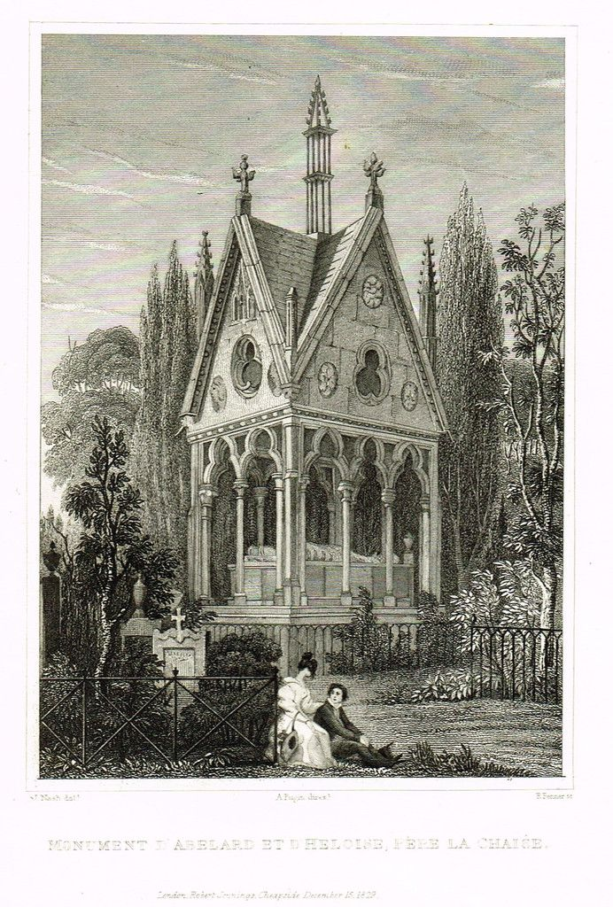 """Pugin's Steel Engraved Topography DESCRIPTION: This 187 year old steel engraving print is from A. Pugin's """"PARIS & ITS ENVIRONS"""" published by Jennings in London in 1829. Fine views of the beautiful ar"""