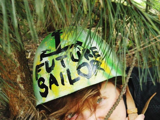 A Mighty Boosh inspired, home painted Future Sailors Helmet!