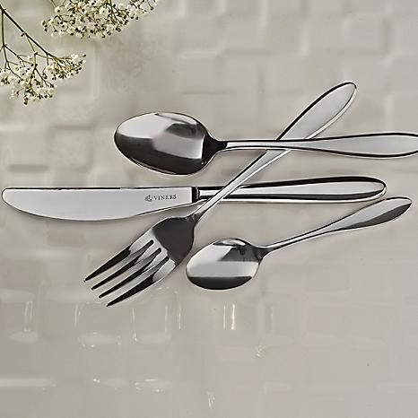 Viners 58 Piece Cutlery Sets - These gorgeous sets are presented in a canteen for easy storage and perfect for gifting. Each set comprises 8 each dinner knives, dinner forks, dessert knife, dessert fork, dessert spoon, soup spoon and teaspoon and 2 serving spoons. #Kaleidoscope #Home #Dining #Kitchen