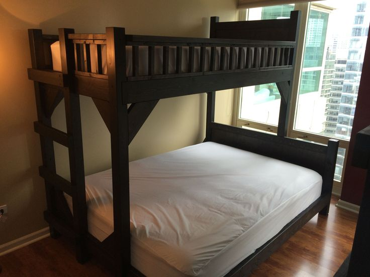 Custom Made Twin And Queen Size Bunk Beds Queen Size