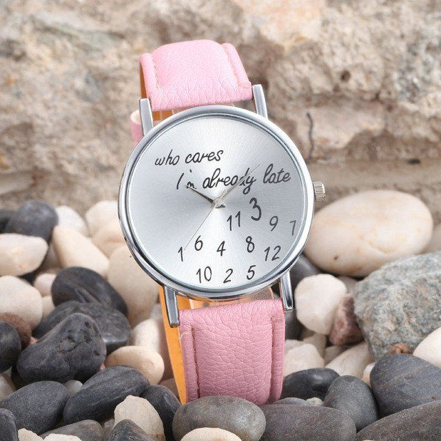 Letter Printed Wrist Watch