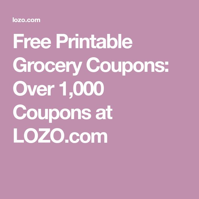Free Printable Grocery Coupons: Over 1,000 Coupons at LOZO.com