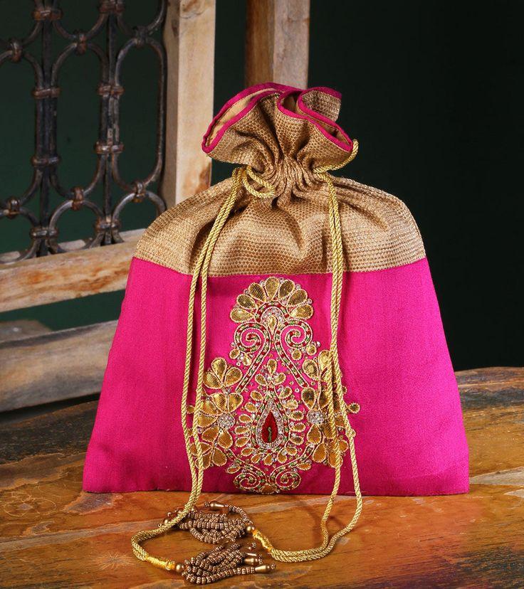 bridal potli bags pink - Google Search