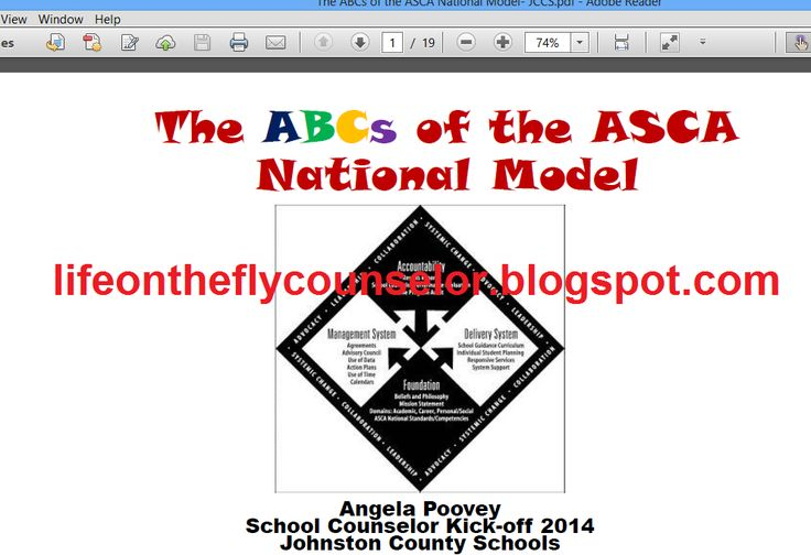 ASCA National Model Presentation Life on the Fly.... A School Counselor Blog: Coffee with the Counselors: School Counseling PR