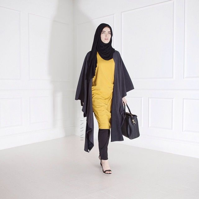 INAYAH | Yellow Knot #Dress + Wrap #Cardigan + Black Crossover #Trousers www.inayahcollection.com