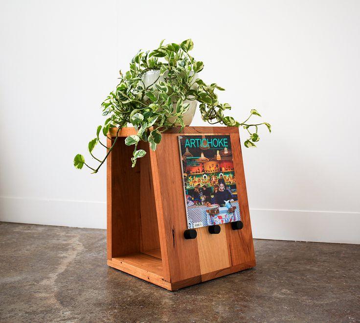 YARD Furniture Melbourne, DAKOTA Side Table, Recycled hardwood timber side table