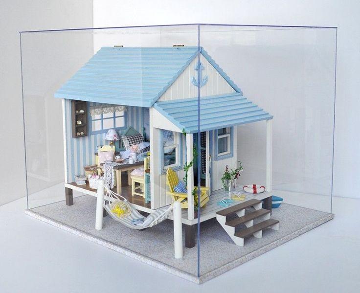 Hágalo usted mismo Kit De Muñecas en miniatura w/furniture + música + Tapa Craft -- Feliz Casa De Playa   Muñecas y osos, Miniaturas para casas de muñeca, Casas de muñeca   eBay!