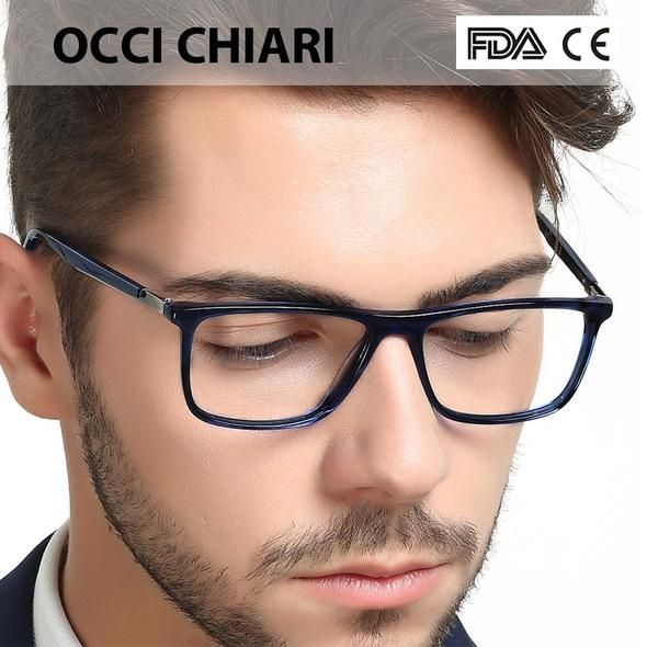 5a12b2bb9e5 High Quality Acetate Retro Prescription Medical Optical Eye Frames Men Hand  Made Glasses Frame Male black OCCI CHIARI W-CANO