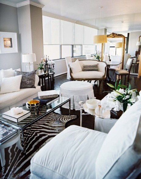 Like The Zebra Print Rug With The Gold Mirror. From  Simpledwellings.blogspot.ca