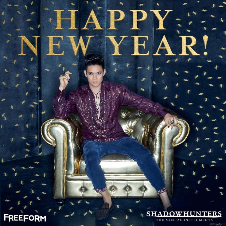 """Magnus Bane would like to wish you a Happy New Year!  #Shadowhunters"""