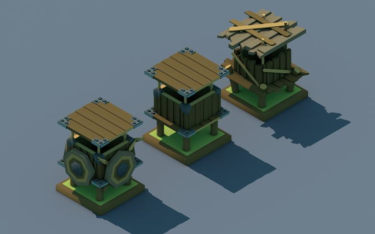 Low Poly Towers by LowWater