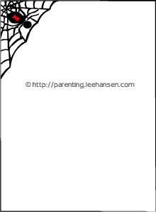 Spooky fun for Halloween letters, invites, menus, collages and scrapbook pages, a spider web border paper you can print!