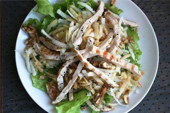 Куриный салатик на ужин 104 ккал