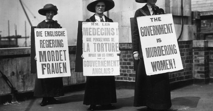 Suffragettes were at the sharp end of protest when they started agitating for the vote - and they were ready for it