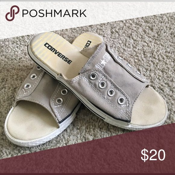 Converse All Star Chuck Taylor Converse All Star Chuck Taylor Cutaway Sneakers Sandals Slides- Gray Converse Shoes Sneakers