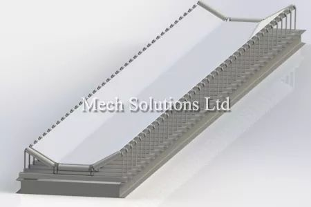 conveyor belt assembly in Solidworks, CAD, service in Toronto, GTA, CAnada