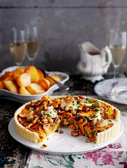 A great alternative at roast dinners - This tart is perfect for Christmas – make it the day before and heat through once dinner's nearly ready. If you can't get wild mushrooms, use more chestnut ones.