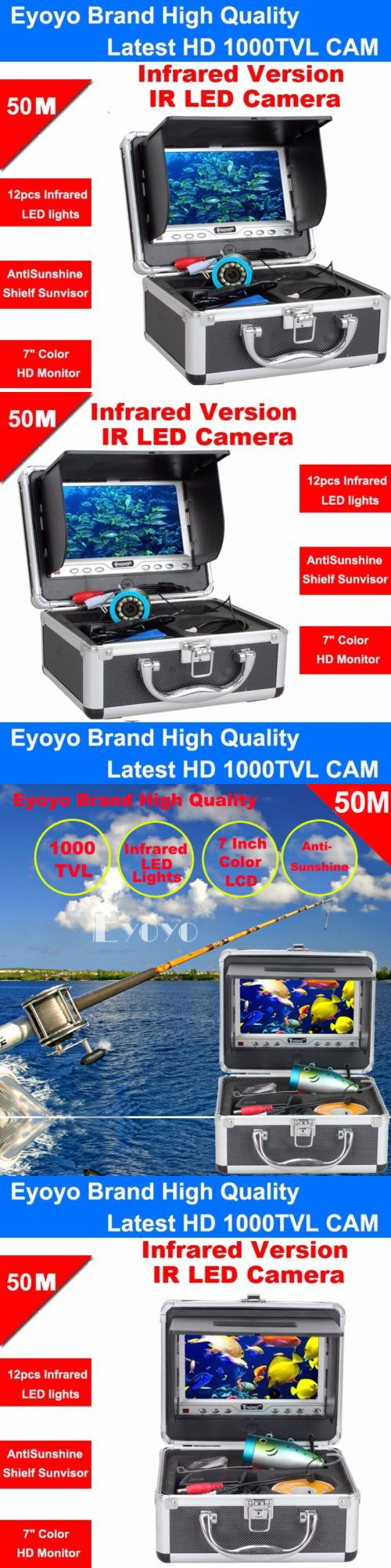 Underwater Cameras 180000: 50M Infrared 1000Tvl Cam Fish Finder Underwater Fishing 7 Anti-Sunshine Monitor -> BUY IT NOW ONLY: $167.39 on eBay!