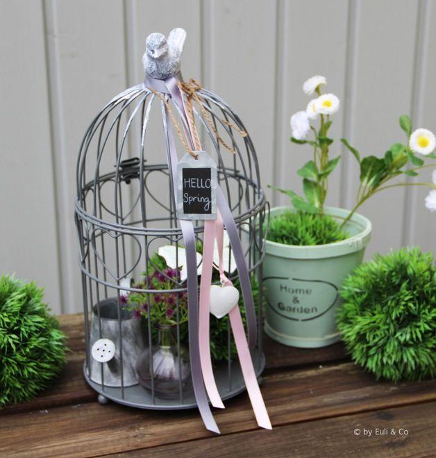 tolles vogelkafig deko mit pflanzen auf dem balkone großartige bild der bcfbecffaaaaeea shabby