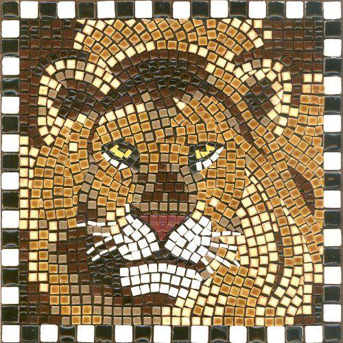 Mosaic Kit 7'' Square, 20x20cm, Lion ALEA Mosaic