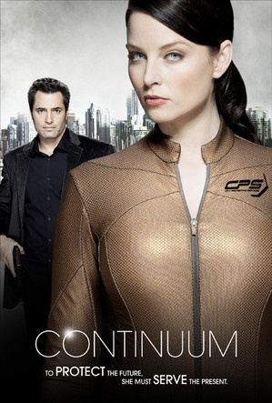 CONTINUUM (2012-) Kiera Cameron is a police officer in 2077 swept along when a gang of condemned terrorists escapes their sentences by traveling back in time to 2012. She finds herself trapped in present day Vancouver, searching for ruthless criminals from the future.