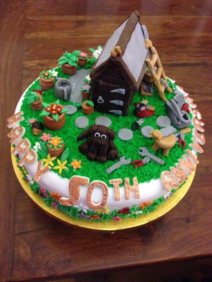 Golden wedding cake (fruit cake) gardening and DIY