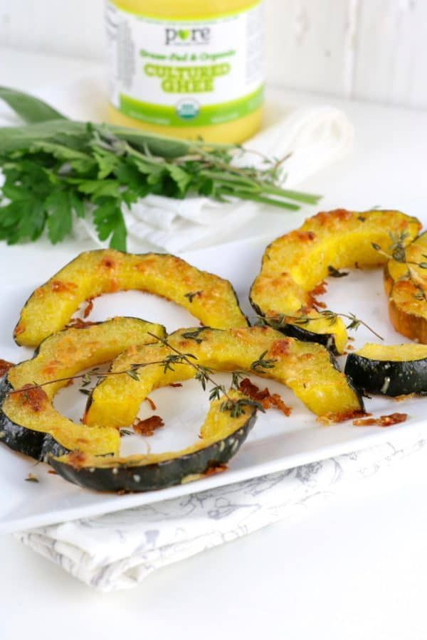Herb Roasted Parmesan Acorn Squash Recipe Vegetable Dishes