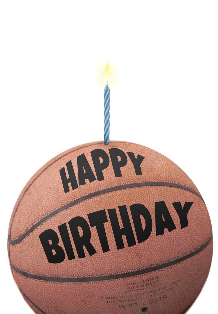 Free Printable Birthday Card - Basketball | Greetings Island