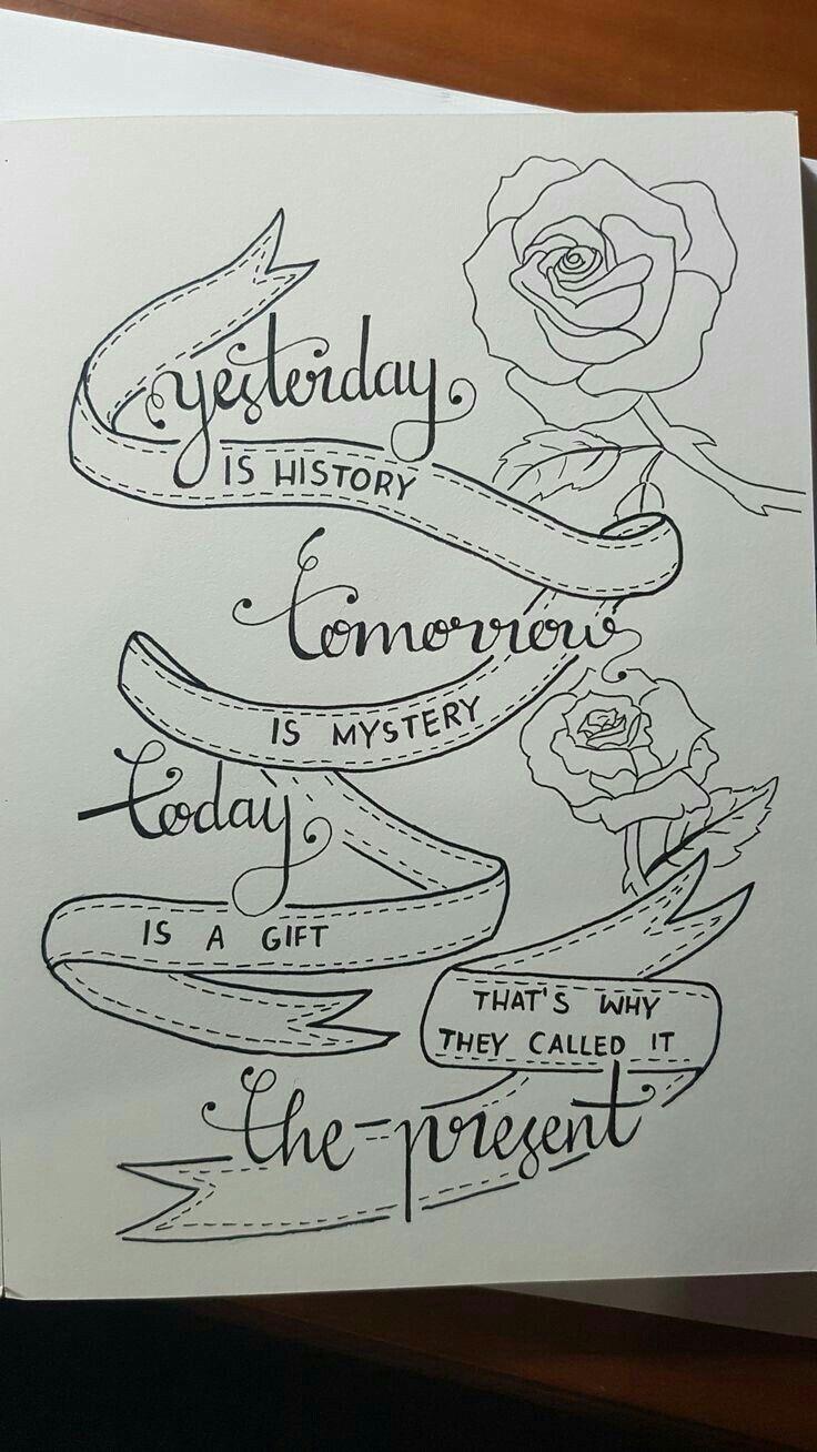 Vive el presente como si fuera tu ultimo día en este mundo sprüche pinterest drawing quotes hand lettering quotes and calligraphy quotes