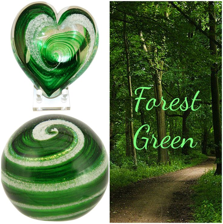 20 best celebration ashes colors images on pinterest cremation forest green memorials infused with cremation ash come in heart and globe designs solutioingenieria Images