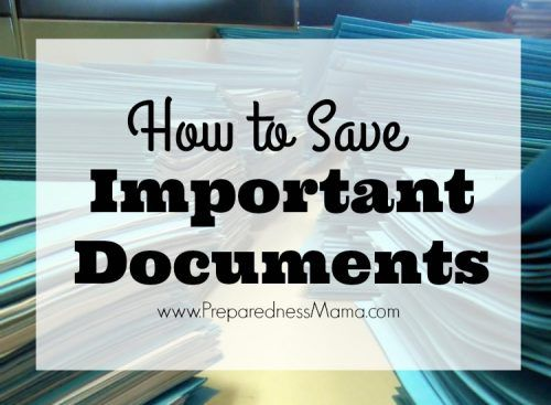 3 ways to save important documents + a downloadable master sheet