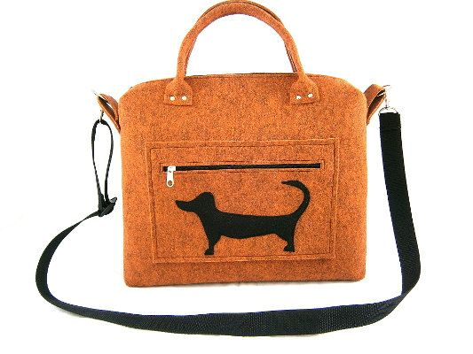 Dog handbag Felt purse Bag for women by Torebeczkowo on Etsy #Handbag #Womenbag , #dogtbag