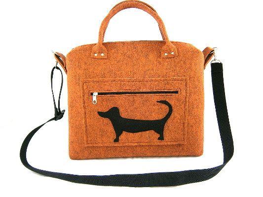 Dog handbag Felt purse Bag for women by Torebeczkowo on Etsy