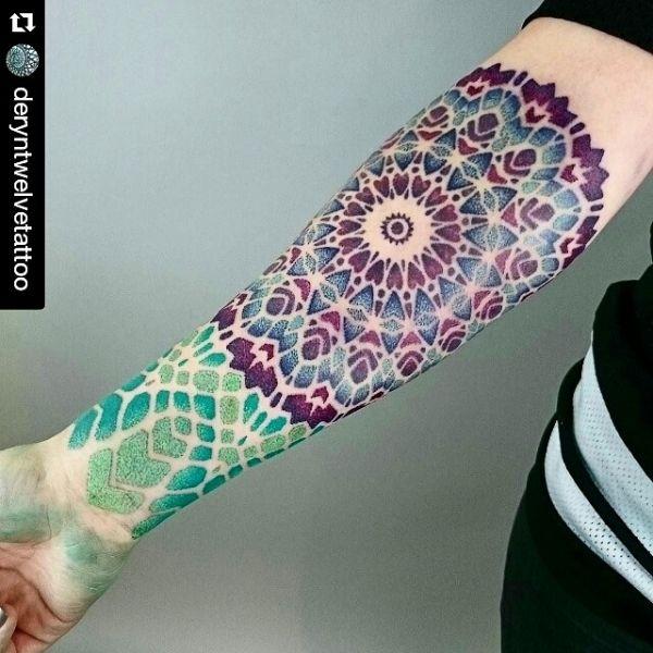 Daily Garlic: My mandala tattoo done by Deryn Tenacious at Tenacious Tattoo I'm Sheffield, England.