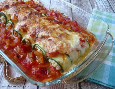 Az áfonya mámora: Lecsóban sült cukkini cannelloni
