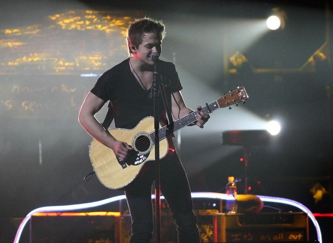 Hunter Hayes, pictured here opening for Carrie Underwood at the BMO Harris Bradley Center last year, returns to the Milwaukee arena as a hea...