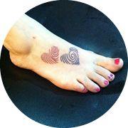 Small Fingerprint Tattoo Design: On Foot