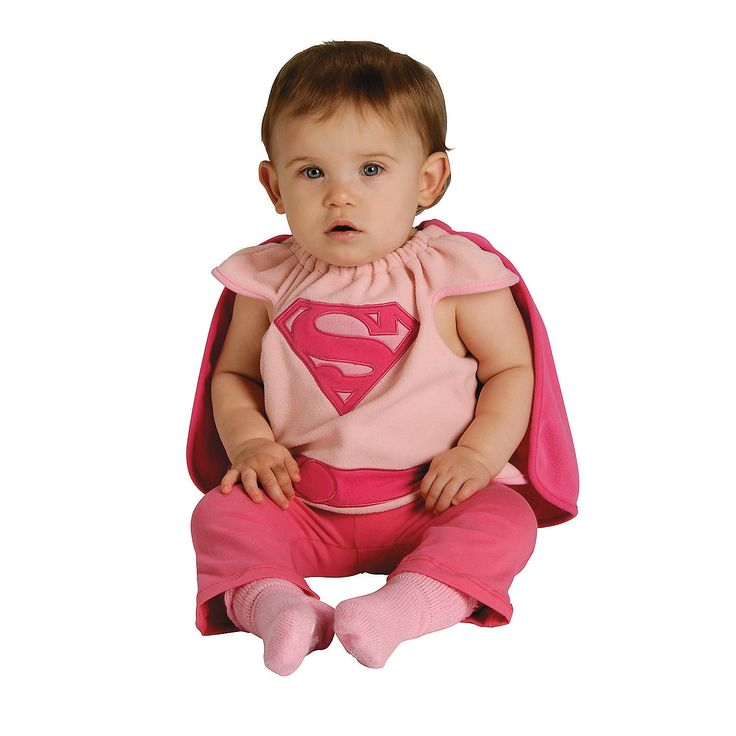 Infant Girl's Supergirl Costume Bib - OrientalTrading.com - For Francesca!  $16.99