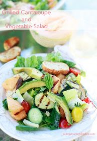 Yummy Mummy Kitchen: Grilled Cantaloupe and Vegetable Salad {Inspired by ABC's The Chew}