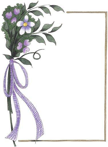 Bordes para decorar hojas - Imagenes y dibujos para imprimirTodo en imagenes y dibujos: Ideas, Printable, Clipart, Album, Graphics, Border, Flower