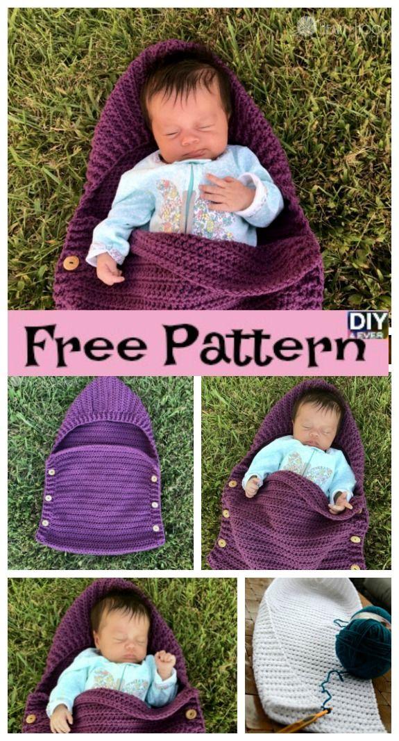 Crochet Newborn Sleep Sack – Free Patterns