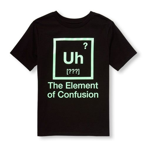 5b140a7c5f549 Boys Short Sleeve Glow-In-The-Dark 'Uh The Element Of Confusion ...