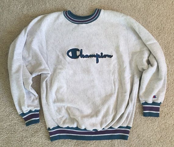 Vintage Champion Authentic Athletic Apparel Tan Spellout Crewneck Sweatshirt XL
