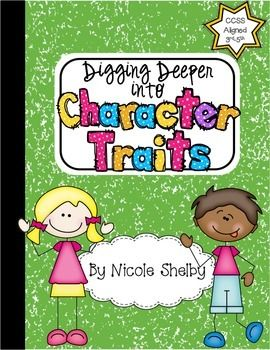 Digging Deeper Into Character Traits: Interactive Notebook {FREE}