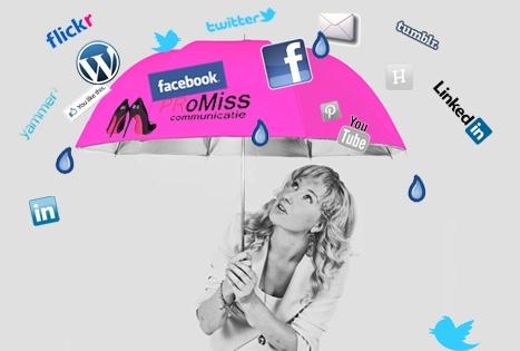 Bekijk even in alle rust, onder de roze paraplu van PRoMiss Communicatie,  hoe je het beste je social media een boost kunt geven. Brainstorm met PRoMiss Communicatie!
