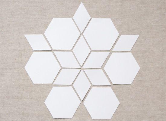 MessyJesse: English Paper Piecing Basics: Week 5 // Matching Shapes + Pattern