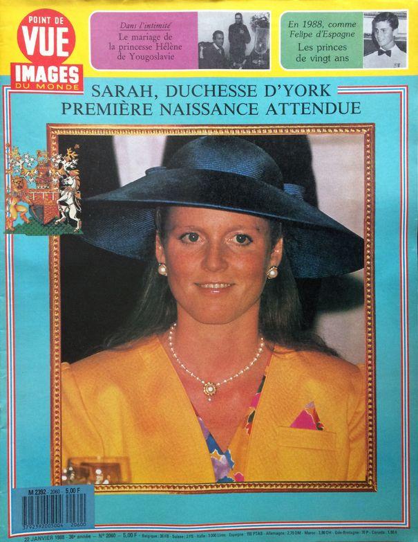 SARAH FERGUSON - POINT DE VUE IMAGES DU MONDE N° 2060 DU 22 01 1988