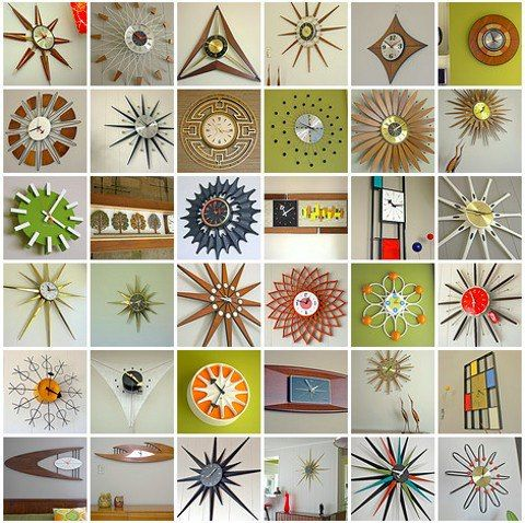 Cool collection of mid century clocks :)